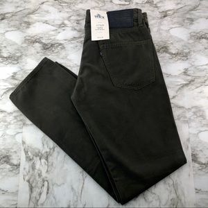 Levi's 511 Slim Olive Green Big E Jeans 33x32 NWT